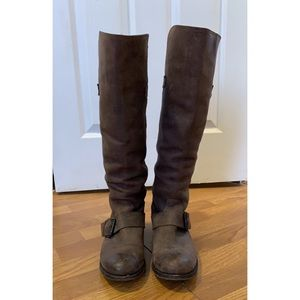 Dolce Vita distressed brown leather boots